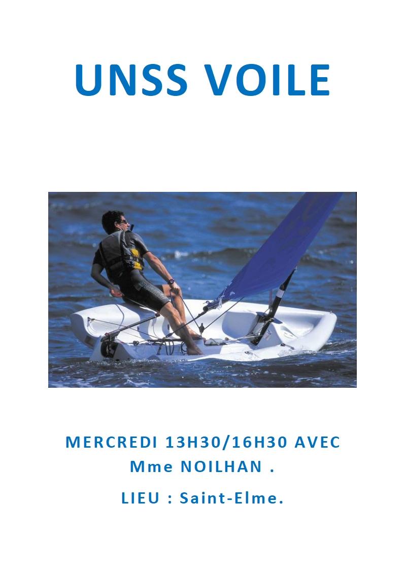 image affiche UNSS VOILE 2021